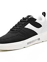 cheap -Men's PU(Polyurethane) / Elastic Fabric Fall Comfort Sneakers Color Block Gray / Red / Black / White