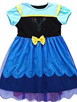 Недорогие -Дети (1-4 лет) Девочки Однотонный Без рукавов / С короткими рукавами Платье