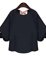 economico -T-shirt Per donna Attivo Lacci, Tinta unita