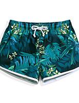 abordables -Mujer Pantalones de Natación Utra ligero (UL), Secado rápido, Repelente de Agua POLY Bañadores Ropa de playa Pantalones de Surf / Prendas de abajo Flores / Botánica Surfing / Playa / Deportes de Agua