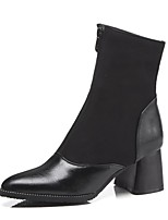 cheap -Women's Shoes PU(Polyurethane) Fall & Winter Fashion Boots Boots Chunky Heel Booties / Ankle Boots Black