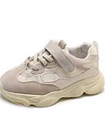 Недорогие -Девочки Обувь Сетка Наступила зима Удобная обувь / Светодиодные подошвы Кеды Беговая обувь На липучках для Дети Черный / Серый / Розовый
