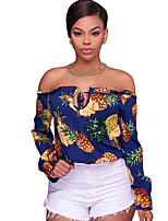 cheap -women's going out shirt - fruit boat neck