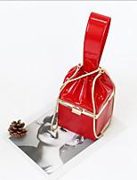 cheap -Women's Bags Cowhide Evening Bag Zipper White / Red / Blushing Pink