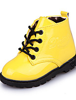 cheap -Girls' Shoes PU(Polyurethane) Spring & Summer Comfort / Fashion Boots Boots Walking Shoes for Kids Black / Yellow / Fuchsia / Booties / Ankle Boots