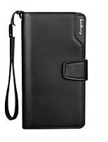 cheap -Men's Bags PU(Polyurethane) Wallet Zipper Black / Brown