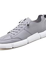Недорогие -Муж. Полиуретан Осень Удобная обувь Кеды Белый / Черный / Серый
