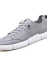 cheap -Men's PU(Polyurethane) Fall Comfort Sneakers White / Black / Gray