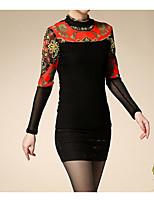 economico -T-shirt Per donna Essenziale / Moda città Collage, Fantasia geometrica / Monocolore