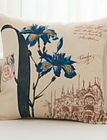 Недорогие -1 штук Хлопок / Лён Подушки для тела, Цветочный принт Цветы