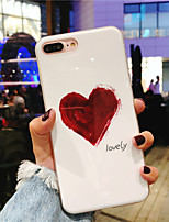 cheap -Case For Apple iPhone X / iPhone 8 Plus IMD / Pattern Back Cover Heart Soft TPU for iPhone X / iPhone 8 Plus / iPhone 8