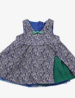 economico -Bambino Da ragazza Con stampe Senza maniche Vestito
