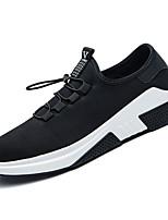 Недорогие -Муж. Полиуретан / Эластичная ткань Осень Удобная обувь Кеды Беговая обувь Черный