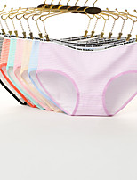 cheap -Women's Shorties & Boyshorts Panties Striped / Letter Low Waist
