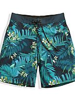 cheap -Men's Swim Shorts Ultra Light (UL), Quick Dry, Water Repellent POLY / Elastane Swimwear Beach Wear Board Shorts / Bottoms Floral / Botanical Surfing / Beach / Watersports