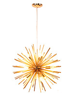 cheap -Modern Globe Metal Chandeliers Firework Northern Europe Vintage Living Room Dining Room Pendant Lights E14 Bulb Base