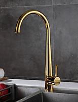 cheap -Kitchen faucet Ti-PVD Standard Spout Free Standing