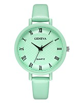 cheap -Geneva Women's Wrist Watch Chinese New Design / Casual Watch / Cool Leather Band Casual / Fashion Black / Brown / Green