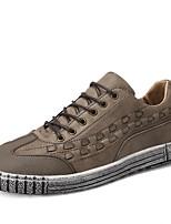 cheap -Men's PU(Polyurethane) Spring Comfort Sneakers Black / Khaki