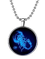 Недорогие -Муж. Светящийся камень Длиные Ожерелья с подвесками - скорпион Мода Синий 60 cm Ожерелье 1шт Назначение Halloween, Для клуба