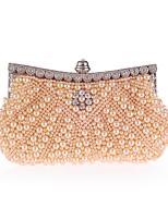preiswerte -Damen Taschen Polyester Abendtasche Kristall Verzierung / Perlen Verzierung Champagner / Weiß / Schwarz