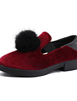 cheap -Girls' Shoes Synthetics Fall & Winter Comfort Loafers & Slip-Ons Pom-pom for Kids Gray / Pink / Burgundy