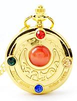 Недорогие -Жен. Карманные часы Кварцевый Нержавеющая сталь Золотистый Очаровательный Аналого-цифровые Мультяшная тематика - Золотистый
