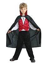 cheap -Cosplay Costume Boys' Halloween Carnival Children's Day Festival / Holiday Halloween Costumes Outfits Black Solid Colored Halloween Halloween
