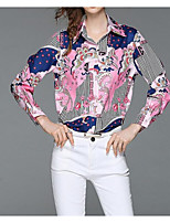 cheap -Women's Cotton Blouse - Solid Colored Shirt Collar