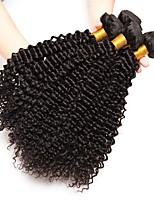 Недорогие -4 Связки Индийские волосы Kinky Curly Натуральные волосы Косплей Костюмы / Головные уборы / Человека ткет Волосы 8-28 дюймовый Ткет человеческих волос Жизнь / Горячая распродажа / Cool
