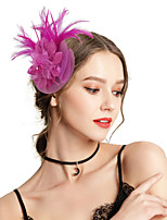 cheap -Women's Vintage / Elegant Headband / Hair Clip / Fascinator - Solid Colored Flower
