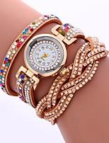 Недорогие -Жен. Часы-браслет Китайский Имитация Алмазный PU Группа На каждый день / Мода Черный / Белый / Синий / Один год / SSUO CR2025