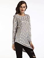 economico -T-shirt Per donna Moda città Con stampe, A pois