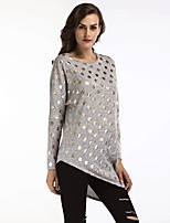 cheap -Women's Street chic T-shirt - Polka Dot Print