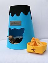 Недорогие -Собаки / Коты Кровати Животные Коврики и подушки Животное / Милый Милые Серый / Желтый / Синий Для домашних животных