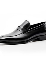 cheap -Men's Formal Shoes Nappa Leather Summer Loafers & Slip-Ons Black / Wine