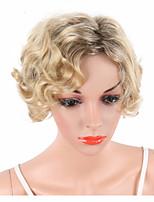 cheap -Synthetic Wig Wavy Blonde Bob Haircut / Pixie Cut / Short Bob Synthetic Hair Adjustable / Heat Resistant / Synthetic Blonde Wig Women's Short Capless / Yes