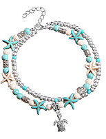 cheap -Layered Ankle Bracelet - Resin Turtle, Starfish Holiday, Bikini, Fashion Blue For Holiday Women's