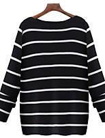 cheap -Women's Basic / Street chic Pullover - Striped