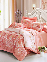 cheap -Duvet Cover Sets Floral / Luxury 100% Cotton / Cotton Jacquard Jacquard 4 Piece