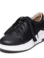 cheap -Women's Shoes PU(Polyurethane) Spring & Summer Comfort Sneakers Flat Heel Round Toe White / Black
