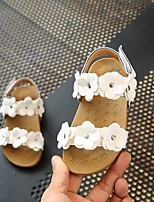 cheap -Girls' Shoes PU(Polyurethane) Spring & Summer Comfort Sandals Flower for Toddler White / Pink