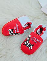 Недорогие -Девочки Обувь Замша Зима Обувь для малышей Мокасины и Свитер для Дети Красный