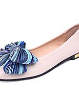 cheap -Women's Shoes PU(Polyurethane) Summer Comfort Flats Flat Heel Pointed Toe Bowknot Black / Beige / Pink