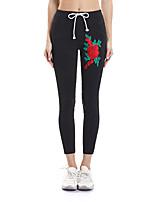 abordables -Mujer Diario / Noche Deportivo / Básico Legging - Un Color / Floral Media cintura