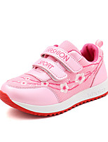 cheap -Girls' Shoes PU(Polyurethane) Spring & Summer Comfort Athletic Shoes Walking Shoes Flower for Teenager White / Pink