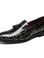 cheap -Men's Formal Shoes Faux Leather Fall Loafers & Slip-Ons Color Block Black / Gold / Black / Silver / Red / Wedding / Party & Evening