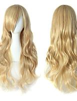 Недорогие -Косплей Костюмы / Парики из искусственных волос Волнистый Блондинка Боковая часть 150% Человека Плотность волос Искусственные волосы Для вечеринок / Женский / Sexy Lady Блондинка Парик Жен.