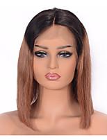 Недорогие -Натуральные волосы Лента спереди Парик Индийские волосы Прямой Стрижка боб плотность Женский / Sexy Lady / обожаемый Нейтральный Жен. 8-14 Wig Accessories