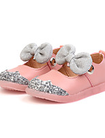 cheap -Girls' Shoes PU(Polyurethane) Spring & Summer Comfort / Flower Girl Shoes Flats Walking Shoes Bowknot / Sequin / Magic Tape for Toddler Beige / Pink